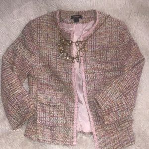 Women Pink Multi Tweed Jacket